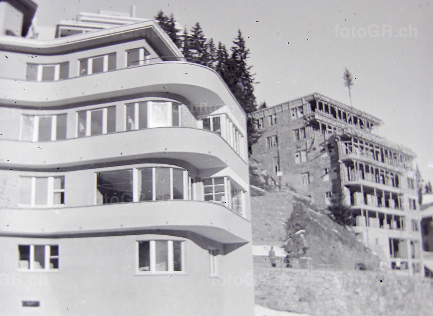 Kulturarchiv arosa schanfigg fotostiftung graub nden for Architektur 30er